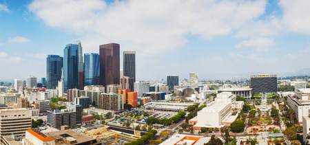 downtown: Los Angeles cityscape panorama on a sunny day Stock Photo