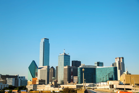 Dallas, Texas cityscape in the morning photo