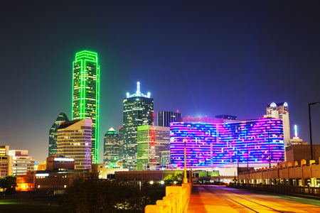 Dallas, Texas cityscape at the night time Banque d'images