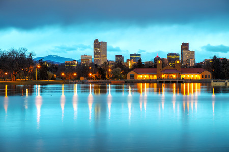 Downtown Denver, Colorado at the morning as seen from City Park photo