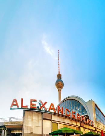Alexanderplatz subway station in Berlin, Germany Editorial