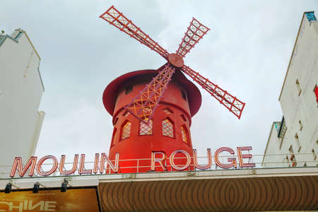 10 best: PARIS - OCTOBER 10:  The Moulin Rouge cabaret on October 10, 2014 in Paris, France. Moulin Rouge is best known as the spiritual birthplace of the modern form of the can-can dance.
