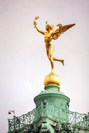 Statue on top of the July column at Place de la Bastille in Paris