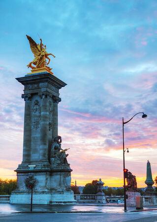 alexander: Alexander III bridge in Paris at sunrise