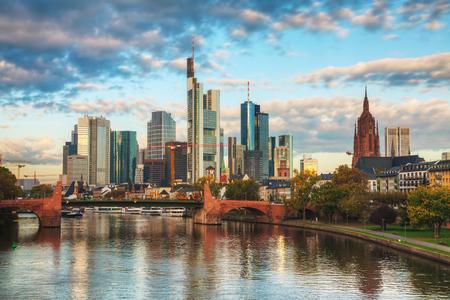 Frankfurt am Maine, Germany cityscape at sunrise