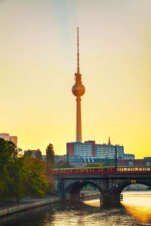 Berlin, Germany cityscape early in the morning