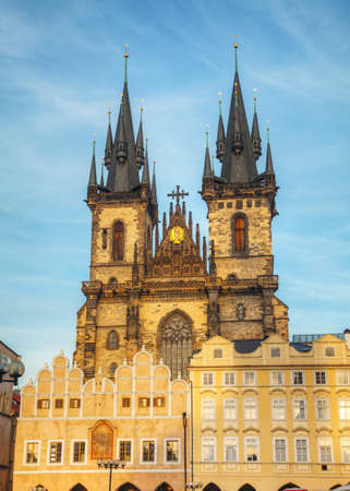 our: Church of Our Lady before Tyn in Prague Stock Photo