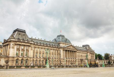 Royal Palace: Royal Palace bulding facade in Brussels, Belgium Editorial