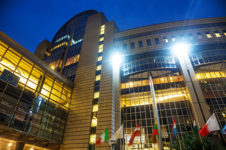 european parliament: BRUSSELS - OCTOBER 7, 2014: European Parliament building on October 7, 2014 in Brussels, Belgium. The European Parliament is the directly elected parliamentary institution of the European Union (EU).