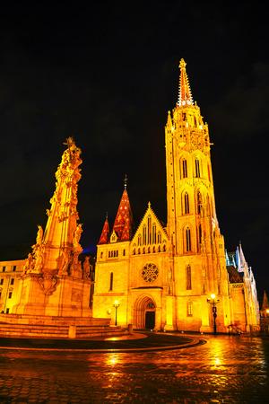 matthias: Matthias church in Budapest, Hungary at night