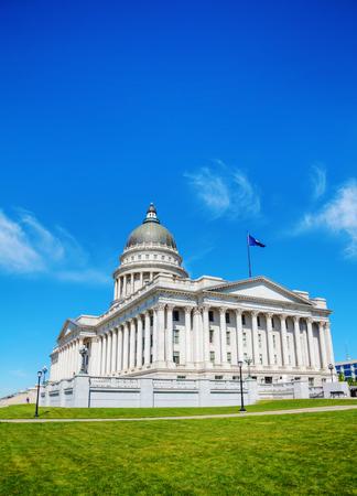 legislature: Utah state capitol building in Salt Lake City on a sunny day