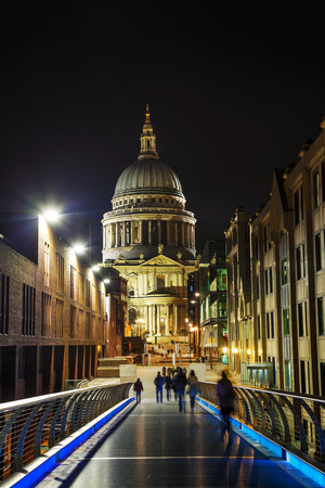 saint pauls cathedral: Saint Pauls cathedral in London, United Kingdom in the evening Stock Photo