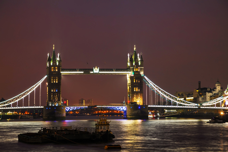 great britain: Tower bridge in London, Great Britain at the night time