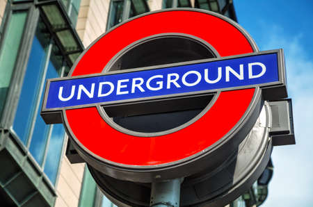London underground sign near the Wesmisnster station Editorial