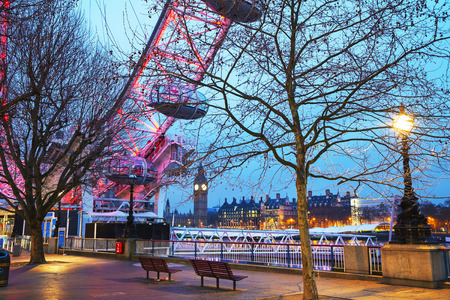 LONDON - APRIL 12: Overview of London with the Elizabeth Tower on April 12, 2015 in London, UK. The tower is officially known as the Elizabeth Tower, renamed as such to celebrate the Diamond Jubilee of Elizabeth II.