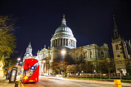 saint pauls cathedral: Saint Pauls cathedral in London, United Kingdom in the evening Editorial