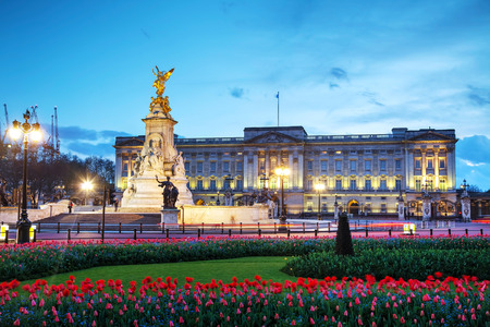 buckingham palace: LONDON - APRIL 12: Buckingham palace at sunset on April 12, 2015 in London, UK. Its the London residence and principal workplace of the monarchy of the United Kingdom.