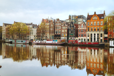 dutch: Overview of Amsterdam, the Netherlands at sunrise Editorial