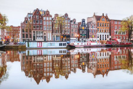 Overview of Amsterdam, the Netherlands in the morning Stock Photo