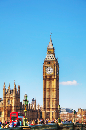 renamed: LONDON - APRIL 6: Overview of London with the Elizabeth Tower on April 6, 2015 in London, UK. The tower is officially known as the Elizabeth Tower, renamed as such to celebrate the Diamond Jubilee of Elizabeth II.