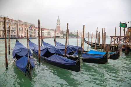 grand canal: Gondolas floating in Grand Canal of Venice, Italy