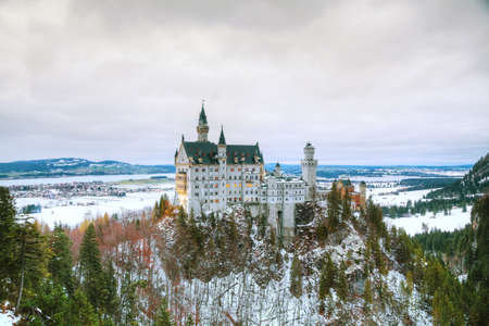 and germany: Neuschwanstein castle in Bavaria, Germany at winter time Editorial
