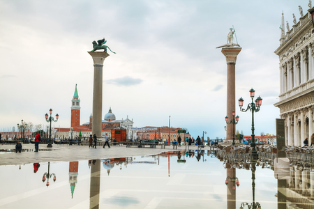 marco: San Marco square in Venice, Italy early in the morning Editorial