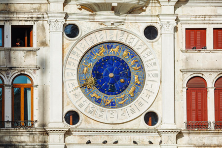 Astrological clock at Torre dellOrologio in Venice, Italy