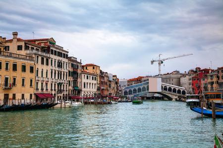 rialto: Rialto bridge (Ponte di Rialto) in Venice, Italy
