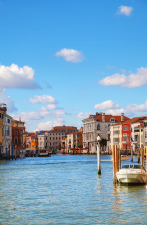 grand canal: Overview of Grand Canal in Venice, Italy