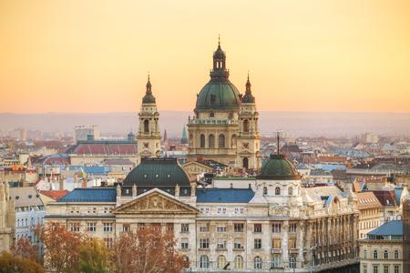stephen: St Stephen (St Istvan) Basilica in Budapest in the morning Stock Photo