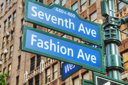 seventh: Seventh avenue sign in New York City Stock Photo