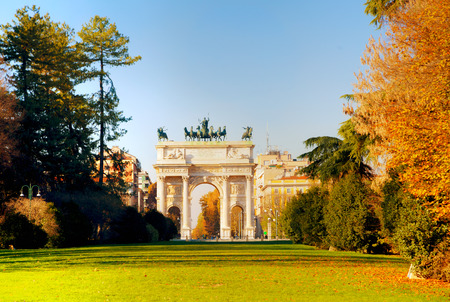 Arch of Peace (Porta Sempione) in Milan, Italy