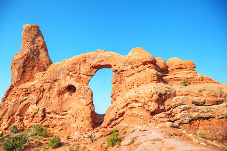 turret: The Turret Arch at the Arches National Park in Utah, USA