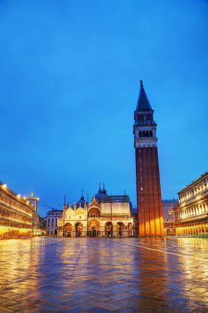 san marco: San Marco square in Venice, Italy early in the morning Stock Photo