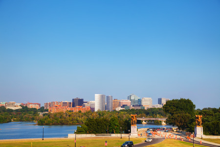 rosslyn: Washington, DC cityscape in the morning