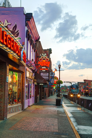 tn: NASHVILLE - AUGUST 28: Downtown Nashville in the morning on August 28, 2015 in Nashville, TN. Nashville is the capital of the State of Tennessee and the county seat of Davidson County.