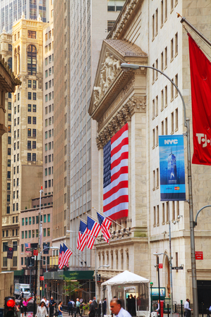 nyse: NEW YORK CITY - September 3: New York Stock Exchange building on September 3, 2015 in New York. The NYSE trading floor is located at 11 Wall Street and is composed of 4 rooms used for facilitation of trading.
