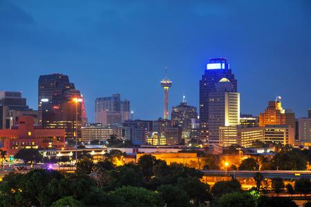 샌 안토니오, 텍사스 풍경 저녁