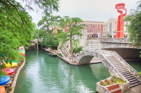 River walk in San Antonio in the morning