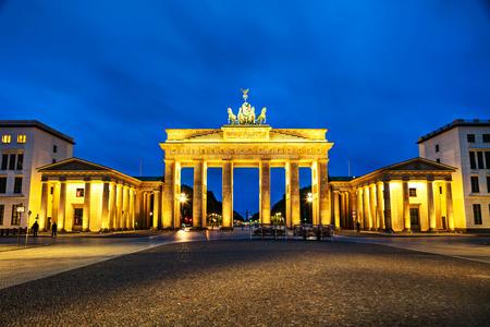 Brandenburg gate (Brandenburger Tor) in Berlin, Germany at sunrise Editorial