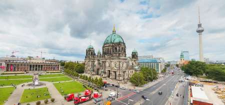 BERLIN - AUGUST 21: Overview of Berlin with Berliner Dom on August 21, 2017 in Berlin, Germany. Editorial