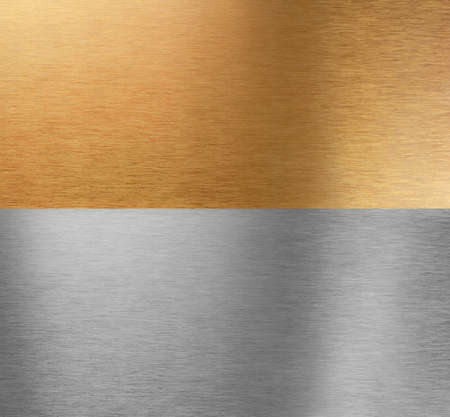 Very sharp and clean and detailed aluminum and bronze stitched textures Stock Photo - 5814585