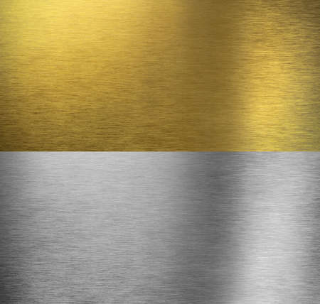 Aluminum and brass  stitched textures photo