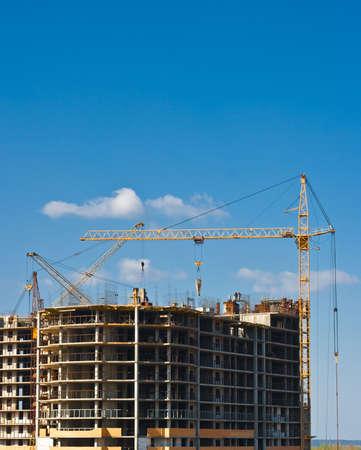 bilding: multistorey building construction Stock Photo