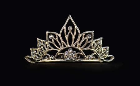 tiara: Tiara on black background