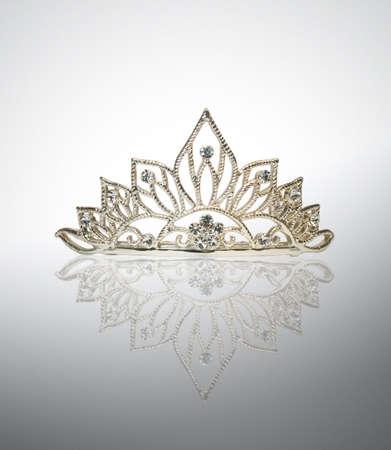 tiara: Isolated diadem or tiara on white