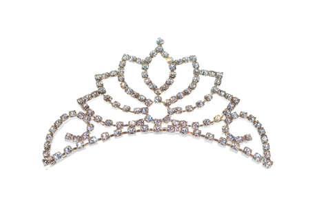 Tiara or diadem isolated on white Stock Photo - 5813693