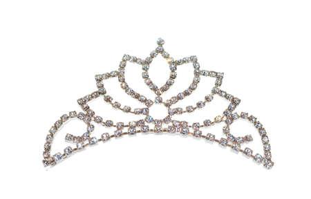 tiara: Tiara or diadem isolated on white