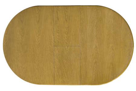trompo de madera: Vista superior de la mesa de madera aislada Foto de archivo